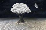 Moon Tree Art Print