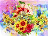 Flowers And Colors 2 Art Print