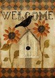 Fall Welcome Flag Art Print