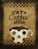 Cats Coffee Shop Art Print