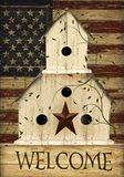 Americana Welcome Birdhouse Art Print