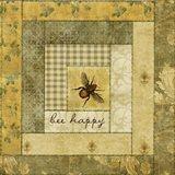 Bee Happy Quilt Art Print