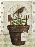 Herb Pot Mint Art Print
