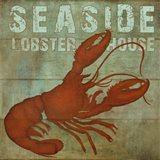 Seaside Lobster Jouse Art Print