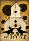 Welcome Fall Bird House Art Print