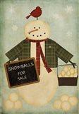 Holiday Snowballs Art Print