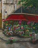 Florist On The Rive Gauche Art Print