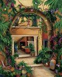 Hacienda Courtyard Art Print