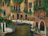 Hotel On The Canal Art Print