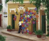 Balloons on the Calle Art Print