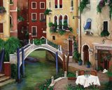 Trattoria by the Canal Art Print