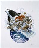 Marine World Art Print