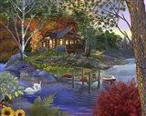 Memory Lake Art Print
