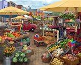 Farmers Market Day Art Print
