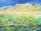 Cross Country Art Print