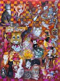 A Collection of Cats Art Print
