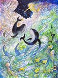 Creation Whales and Fishes Art Print