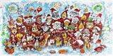 Christmas Choir 1 Art Print