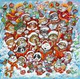 Christmas Choir 2 Art Print