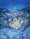 The Road To Christmas Art Print