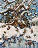 The Snow Fairies Art Print