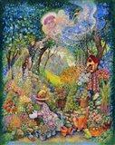 My Gardening Angel Art Print