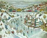 Boathouse Snow Art Print