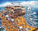 The Music Pier Art Print