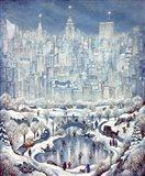 Central Park Snow Art Print