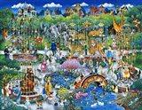 Victorian Zoo Art Print