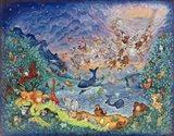 Blue Creation Art Print