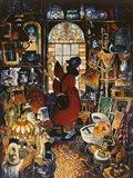 Antique Lady Red Coat II Art Print
