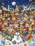 Teddy Bear Christmas Art Print
