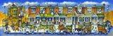 Row Of Houses Long Art Print
