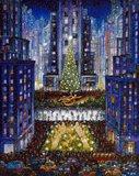 Rockefeller Center 2 Blue Art Print