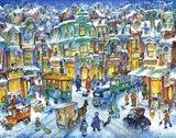 Old City Snow Art Print