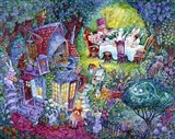 Alice And The Hatter Art Print