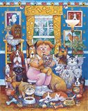 The Lady Who Loves Dogs Art Print