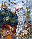 Alice And Humpty Dumpty Art Print