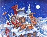Santa Is Here Art Print