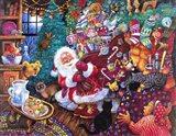 Santa Arrives Art Print