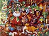 Santa Rejoicing Art Print