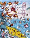 Goldengate Kites Art Print