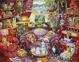 Teatime For Teddy Art Print