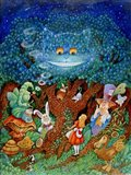 Alice & The Cheshire Cat Art Print