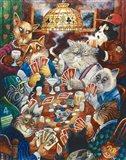 Poker Cats Art Print