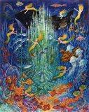 Neptune & The Mermaids Art Print