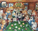 The Hustler ( Pool Cats ) Art Print