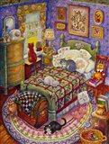 More Bedroom Cats Art Print