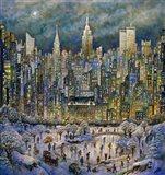 Snowtime In New York Art Print